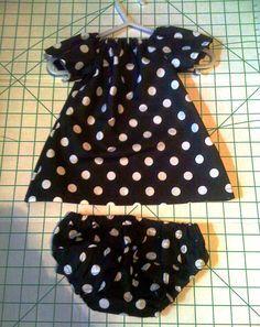 Newborn Peasant Dress w/FREE Pattern Link