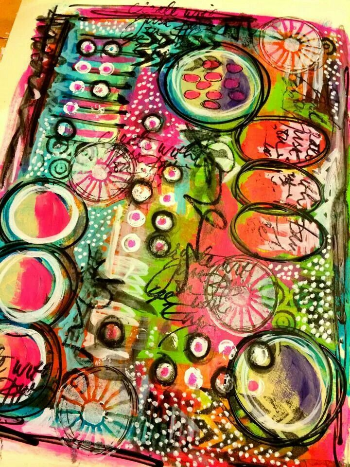 Tracy Scott in her Dylusions journal...