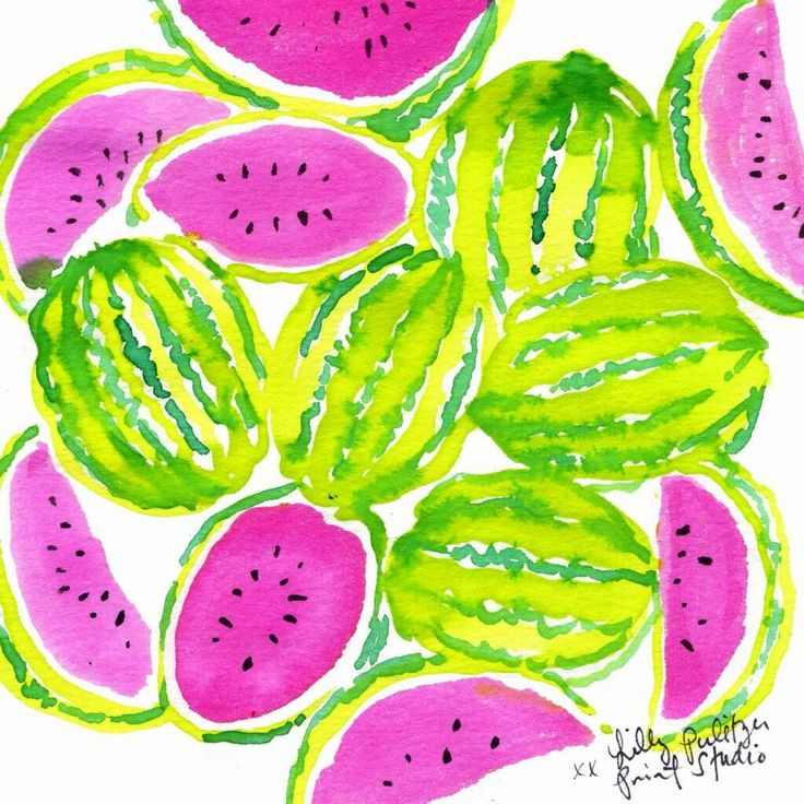 Wallpaper Cute Iphone Watermelon Lilly Pulitzer Pinterest