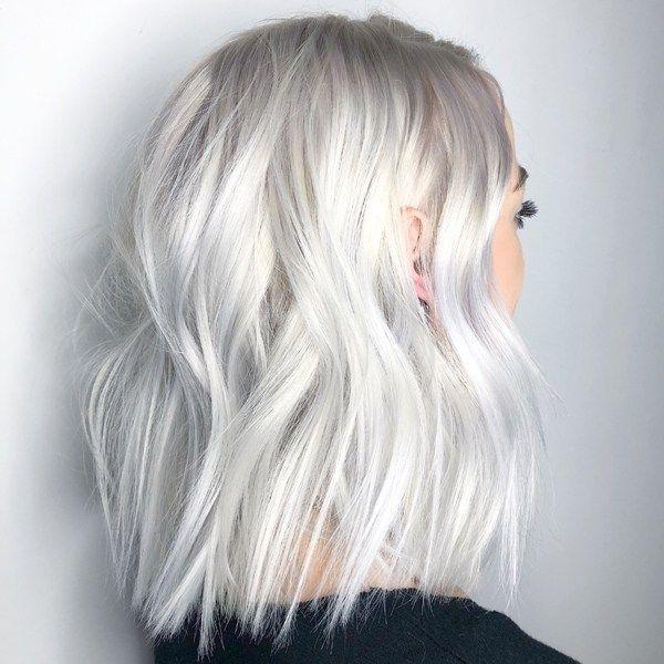 Clear Platinum White Blonde Haircolor Formula Short White Hair
