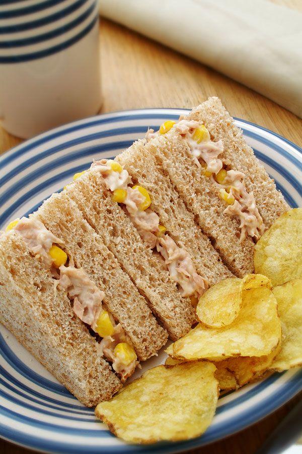 Tuna and Sweetcorn Sandwich for #BritishSandwichWeek