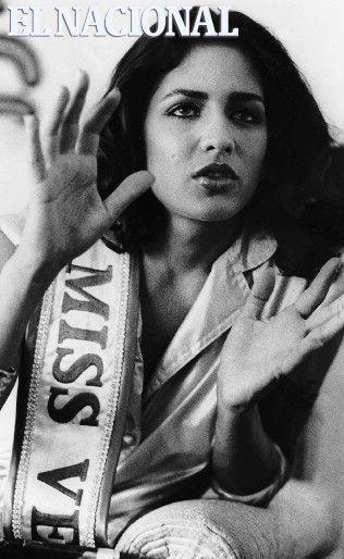 Maye Brandt, Miss Venezuela 1980. Caracas, 09-05-1980 (OSWALDO TEJADA / ARCHIVO EL NACIONAL):