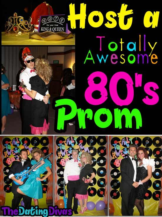 This is a perfect birthday party for an adult- or a fabulous theme for any party or gathering. www.TheDatingDivas.com #80sparty #adultparty #datingdivas