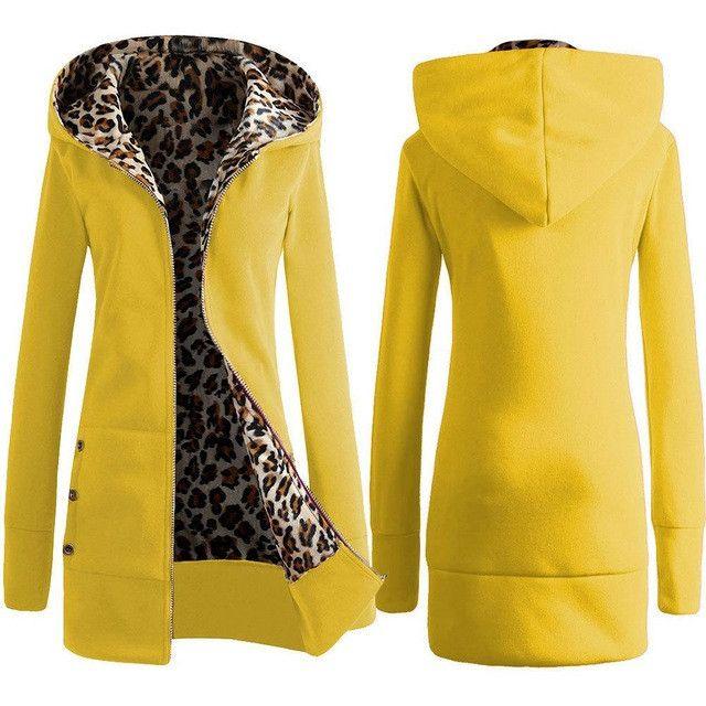 Autumn Sexy Women Clothing Winter Coat Women Winter Maxi Jacket Women Hoodies Warm Coat Hooded Leopard Jacket AWC0017