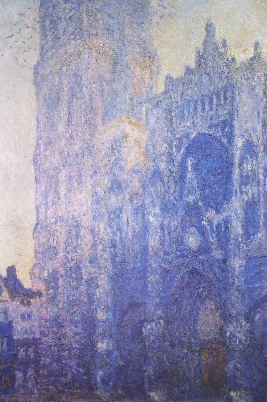 """Rouen Cathedral, The Portal and the Tour d Albane, Morning Effect"", Claude Monet 1893, oil on canvas 106 x 73 cm, Musée d Orsay, Paris France."