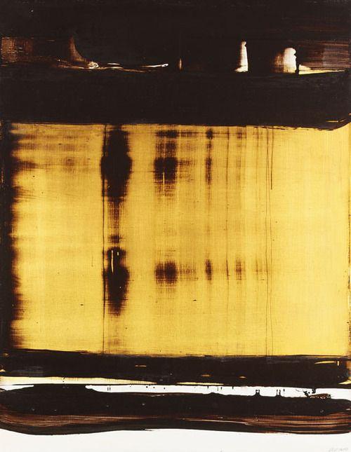 Soulages, Pierre  Peinture 127 cm x 99 cm, 23 septembre 1977