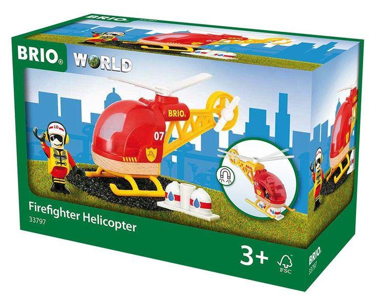 BRIO 33797 - Feuerwehr Hubschrauber, bunt: Amazon.de: Spielzeug