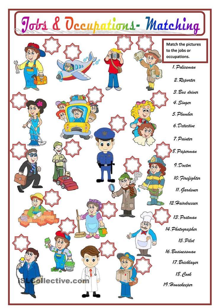 JOBS & OCCUPATIONS WORK Pinterest English