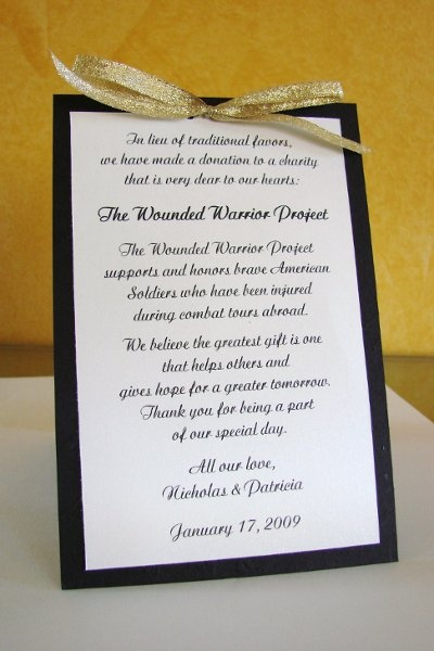 Donate To A Charity Instead Of Buying Wedding Favors