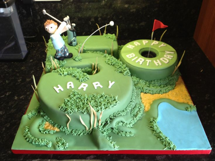25 best ideas about golf birthday cakes on pinterest golf cakes golf themed cakes and golf party - Birthday decorations for mens th ...