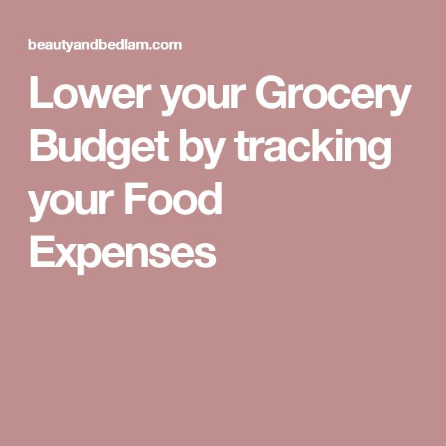 Lower your Grocery Budget by tracking your Food Expenses