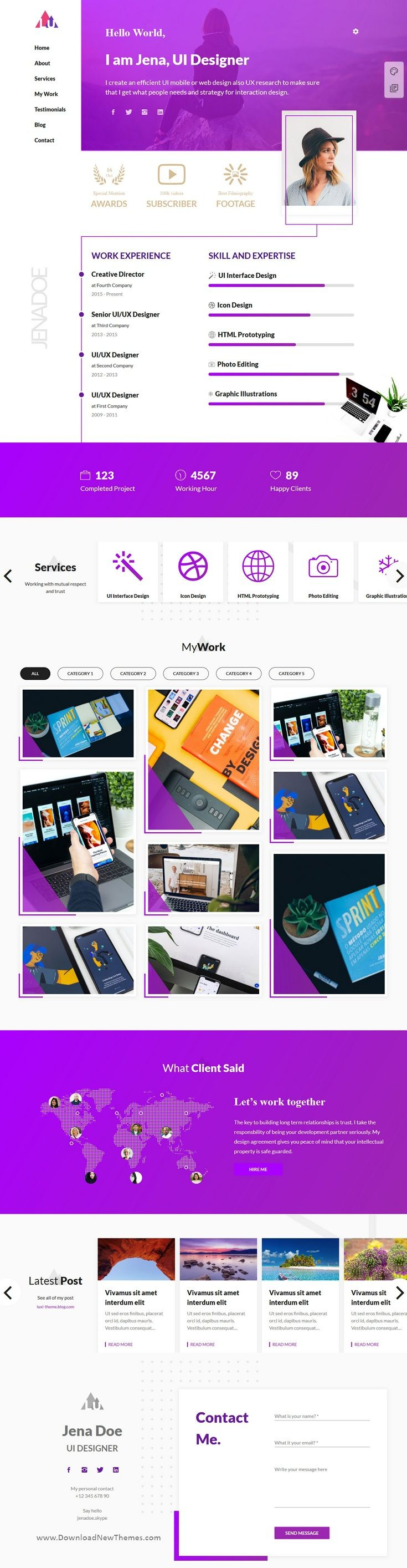 Luxiren is a clean elegant and modern design responsive