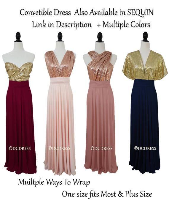 8c9e7994b1f Burgundy Bridesmaid Dress Convertible Dresses Infinity Dress
