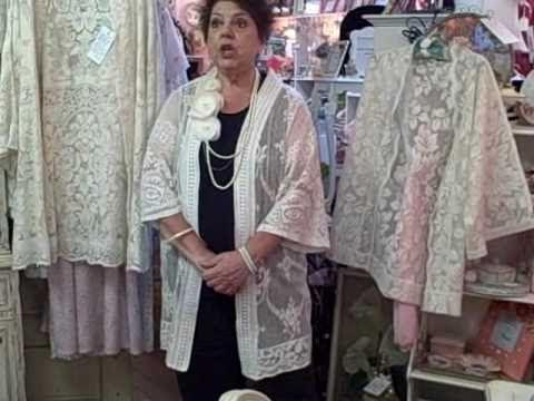 Lace jackets made with vintage lace tablecloths. Stunning! #lacejackets #vintagelace http://www.camillesantiqueboutique.com/vintage-clothing--accessories.html