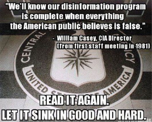 """Activist Post: CIA Flashback: """"We'll Know Our Disinformation Program Is Complete When Everything the American Public Believes Is False."""" #news"""