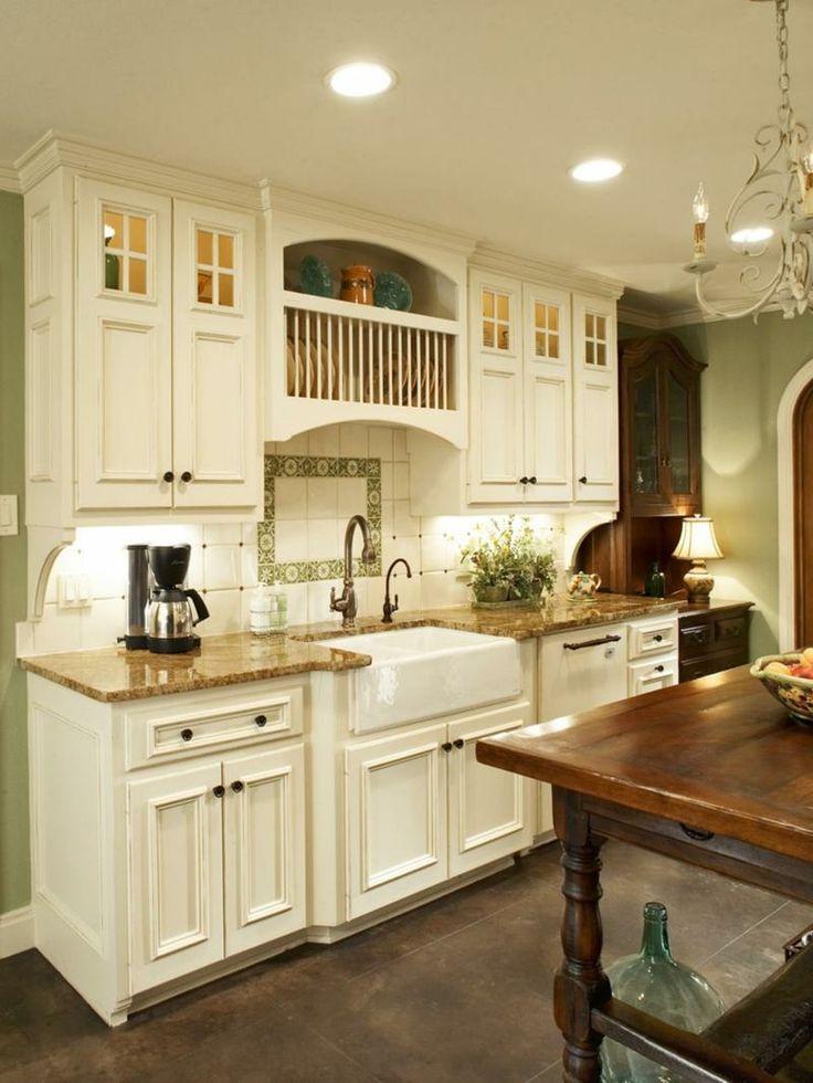 In der Landhaus Küche weiße und dunkle Möbel kombinieren - ikea k chenblock freistehend