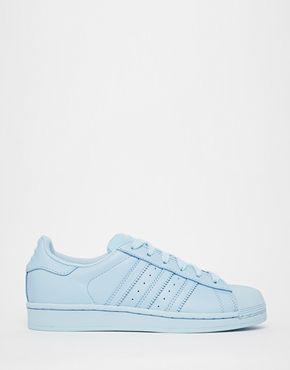Adidas Originals Pharrell Williams supercolour Sky Blue Trainers