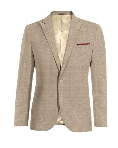 Beige Houndstooth linen Blazer - http://www.tailor4less.com/en-us/men/blazers/3282-beige-houndstooth-linen-blazer?flush_memcached=1