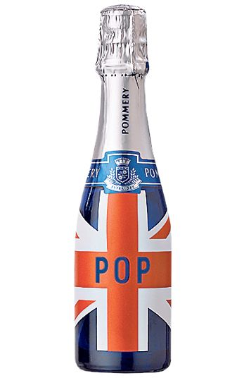 Pommery Champagne Brit Pop Bottle. Enjoy with Fish and Chips then Strawberries and Cream.