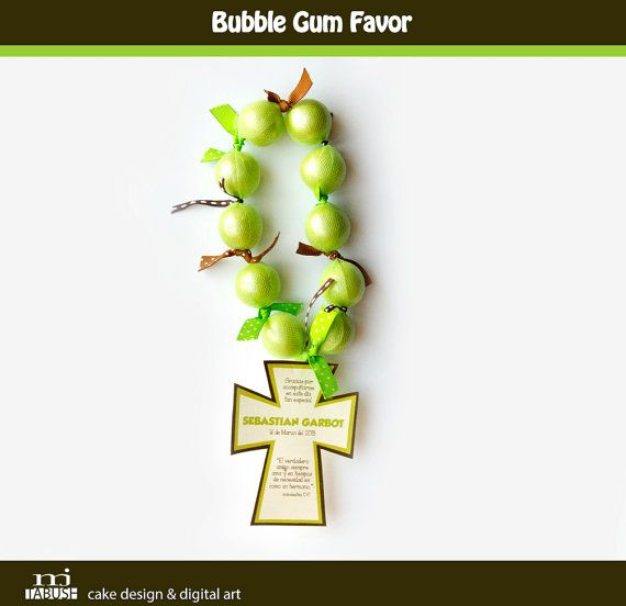 Bubble Gum Favor by mjtabush on Etsy, $4.40 @Ana Pinto mira analou