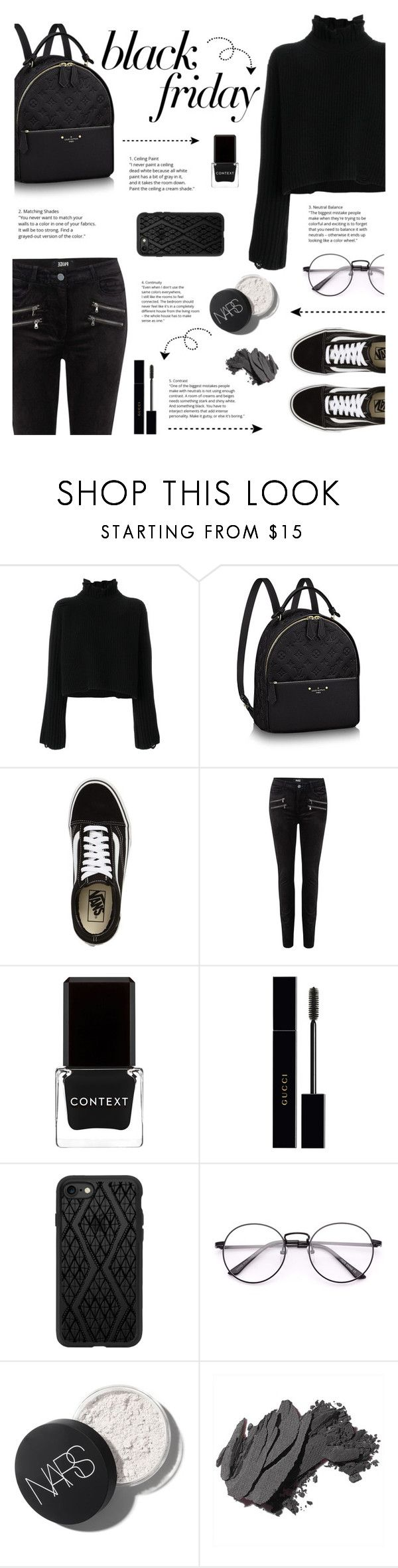 """Steal Those Deals: Black Friday"" by nvtellan ❤ liked on Polyvore featuring Golden Goose, Vans, Paige Denim, Context, Gucci, Casetify, Bobbi Brown Cosmetics and blackfriday"