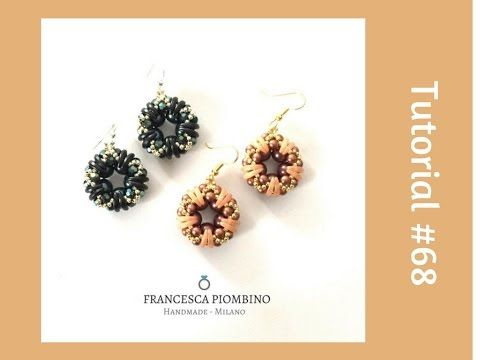 TUTORIAL PERLINE [68] - Orecchini Anna: crescent, perle da 4 e 8mm, rocailles. - YouTube