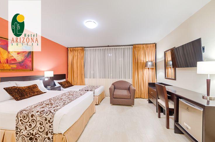 Contamos con Habitaciones Re modeladas y tranquilas con todo lo que necesitas para disfrutar en el Hotel Arizona Suites Cúcuta de una cómoda estadía. Comunícate al 57 7 5726020 #Cucuta #Colombia #Viajesdenegocios #Empresas