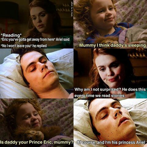 #StydiaFamily Stiles and Lydia are like Ariel and Eric