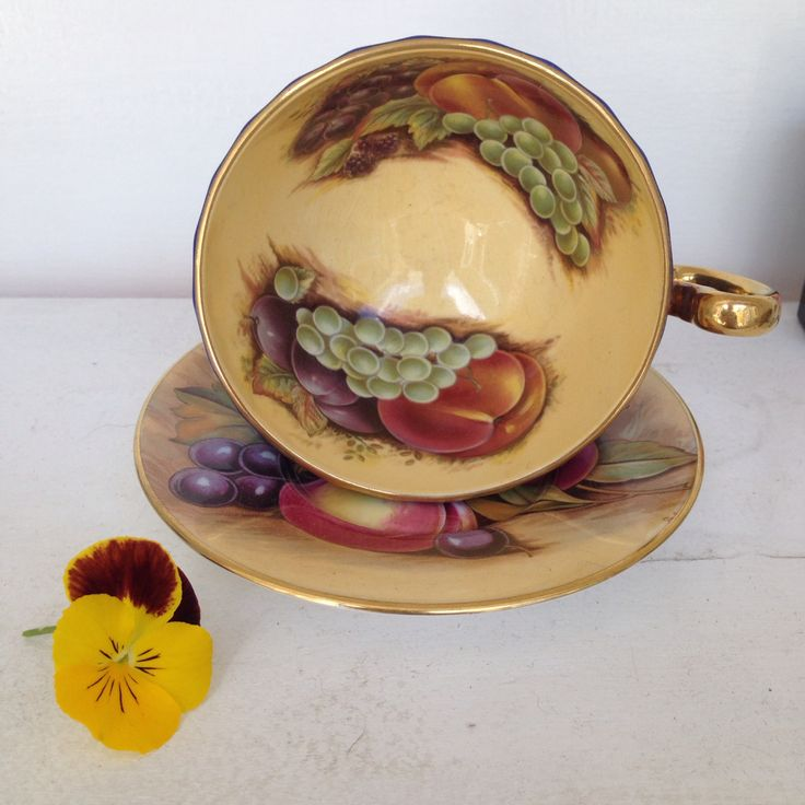 Aynsley Orchard Tea Cup & Saucer. One of my fave designs :)