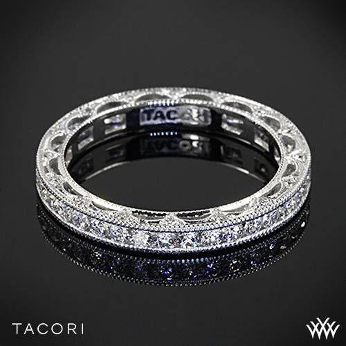 18k white gold tacori ht2510b reverse crescent eternity star diamond wedding ring - Tacori Wedding Ring