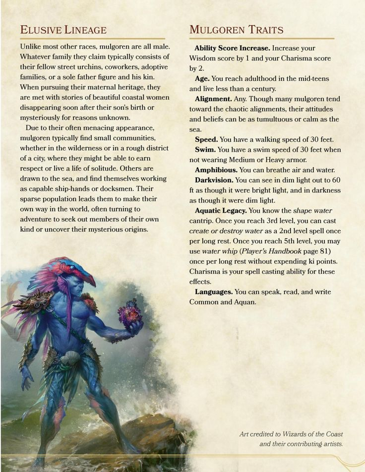 Dnd 5e Homebrew Siren Race By Stridert Dungeons And Dragons