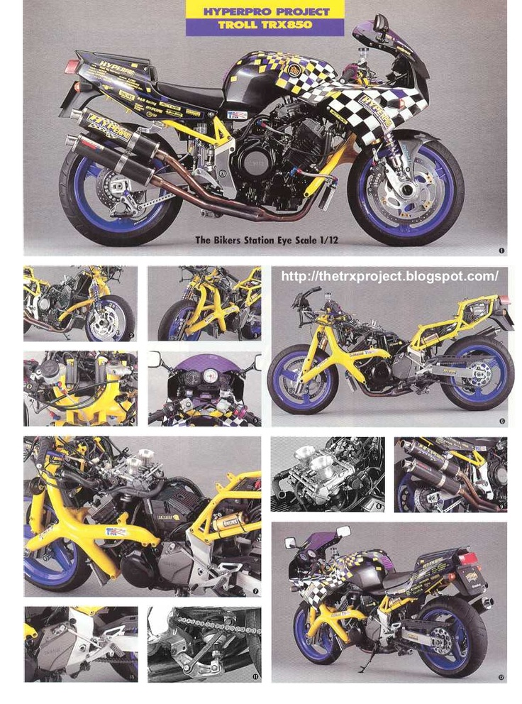 The TRX Project. The Yamaha TRX 850 blog: Hyperpro Troll TRX . alternative Trixie.