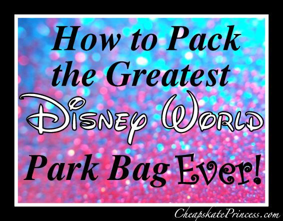 How to pack the greatest Disney World park bag ever!