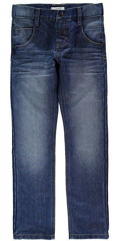 Meisjes jeansbroek NITALEXI van het kinderkleding merk Name-it.  Dit is een light blue denim broek met een schuifknoop en rits sluiting, de broek is verstelbaar in de taille. Deze broek is een slim fit model, en is zeer elastisch.