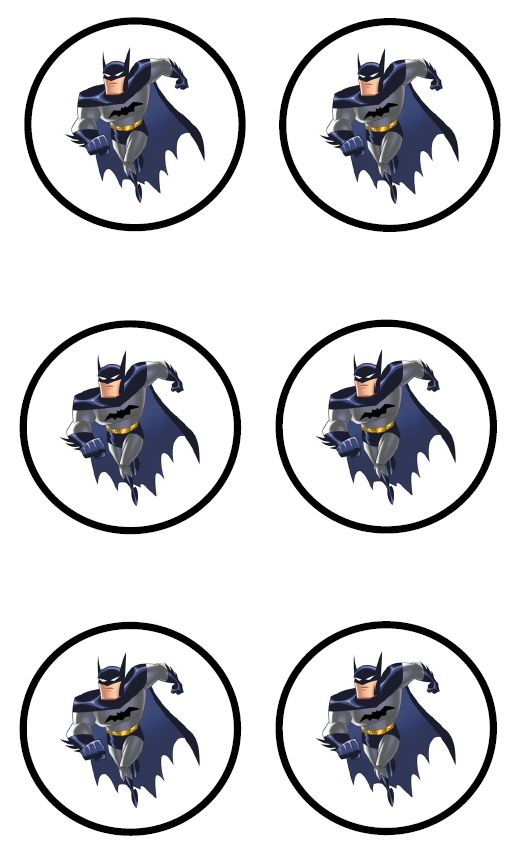 BATMAN STICKERS  --   or cupcake toppers, or both.