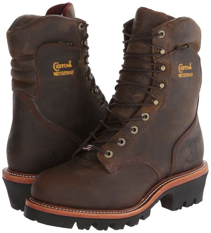 Chippewa Men's 9-Inch Bay Apache WP Steel Toe Super Logger Work Boot 25407