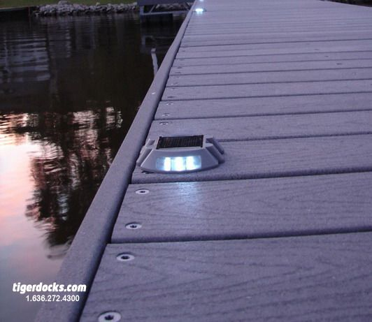 Dock Lighting And Composite Material Boat House Lake