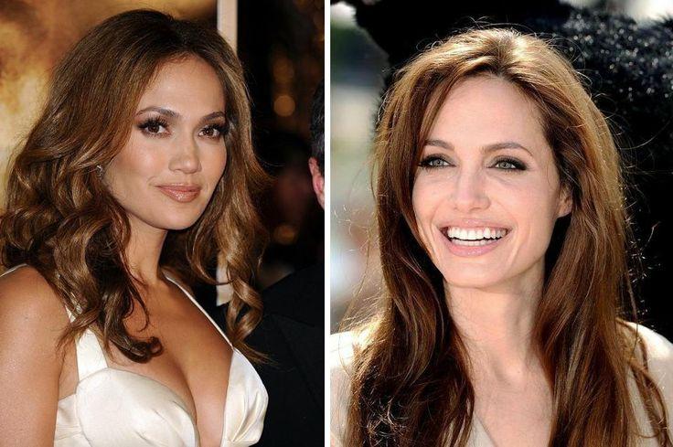 """Altri due nomi importanti per la """"sfida"""" di oggi: Jennifer Lopez con il suo colore STAR-CROSSED LOVERS e Angelina Jolie che indossa un A TOUCH OF TUSCANY... Quale preferite tra i due? Quale colore-personalità AloXXi vedreste sui vostri capelli? Per maggiori informazioni ci trovate su www.aloxxi.it"""