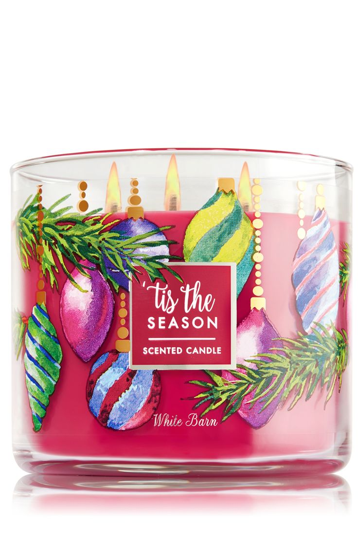 Bath and body works holiday scents - Tis The Season 3 Wick Candle Home Fragrance 1037181 Bath Body Works
