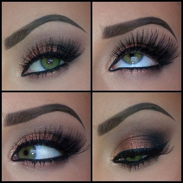 Not too dark of a smokey eye. Just right.