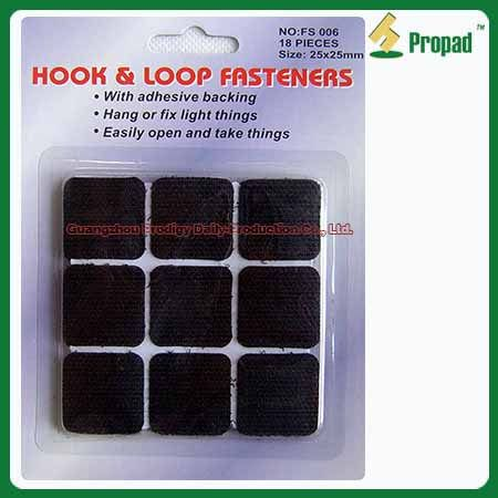 Hook and Loop Velcro Tape FS006-2 #Hook and Loop Velcro Tape /Hook & Loop Fastening Tape/Adhesive Hook and Loop  Hook and Loop Velcro Tape can use indoor and outdoor to fix or fasten thing. Such as use on tools, photo frame, rain coat, clothes, handbag, window curtains, outdoor tent, mosquito net, small appliance accessory, wires, books, suitcase, shoes, toy, ect. Different colors, sizes and materials are available. Small/ Middle /Big hook for choosing.