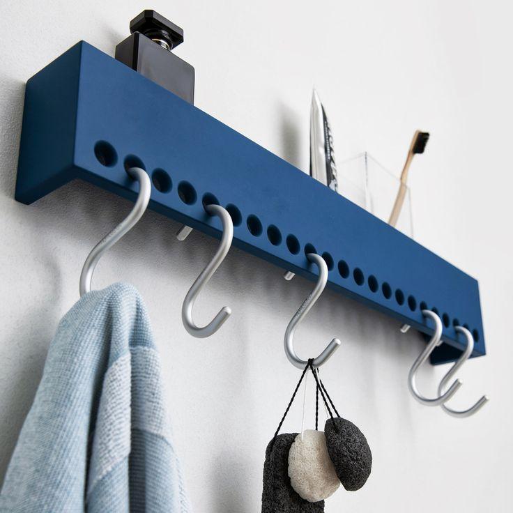 Nomess – So-Hooked Wandgarderobe 60 cm, blau