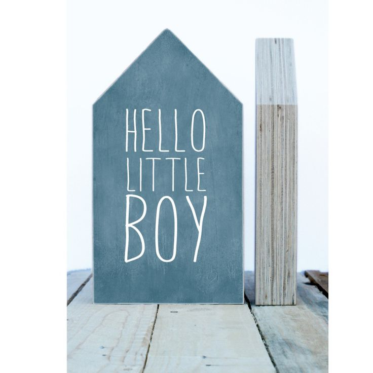 Maison forme bois - Hello Little Boy - Dots Lifestyle