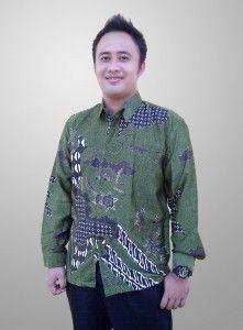 Baju Batik Sunwash Pria Terbaru Semi Sutra Motif Kembang Kode BSP 16 Kirim SMS ke 082134923704