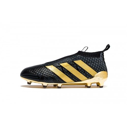Discount Adidas ACE 16 Purecontrol FG-AG Black Gold Football Boots