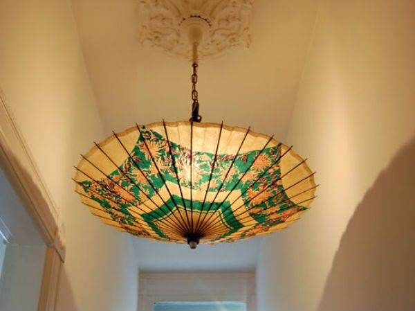 Attach the parasol into your existed lighting. What a beautiful result!