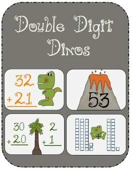 10 Double-Digits math games for 1st and 2nd grade, aligned to Go Math!  Looks great for journals.: