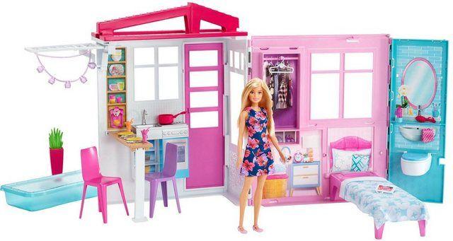 Puppenhaus Barbie Ferienhaus Mit Mobeln Und Puppe Barbie Puppe Haus Barbie Ferienhaus Puppenhaus