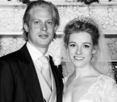 Childhood friends: Newlyweds Lady Lucy Alexander and James Agar, Viscount Somerton