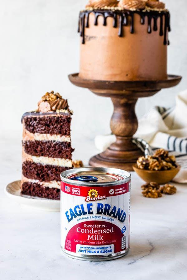 Walnut Chocolate Cake In 2020 Chocolate Cake Decoration Raspberry And Coconut Cake Milk Dessert